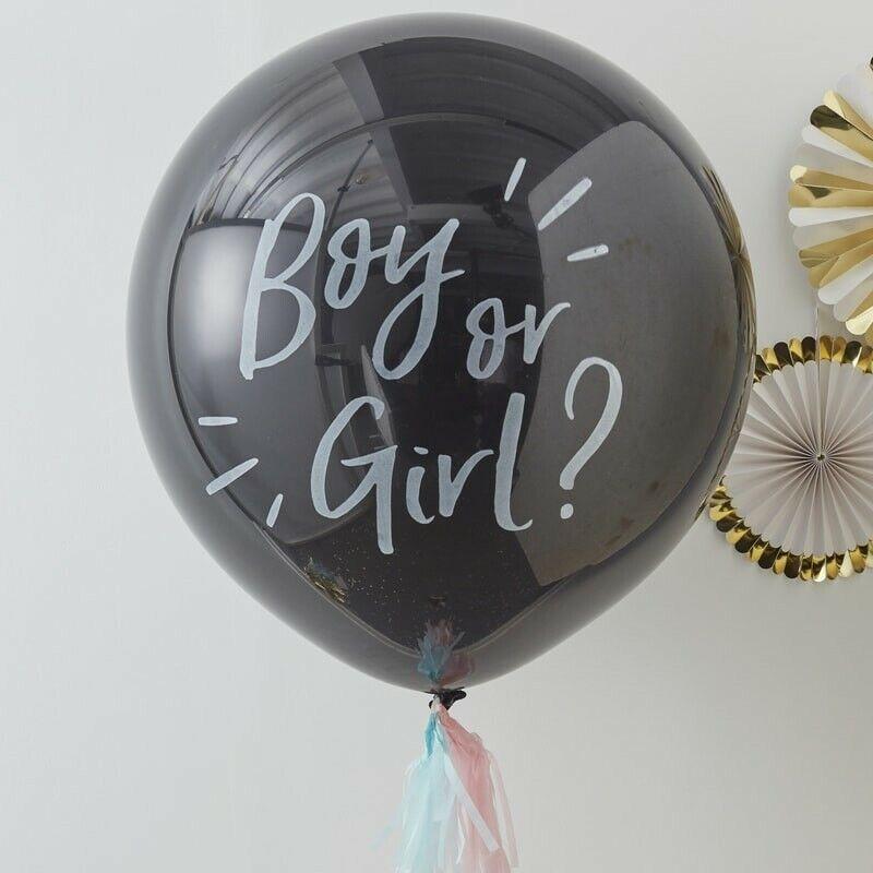 Baby Riesenballon Set Gender Reveal | Junge oder Mädchen | Babyshower Babyparty