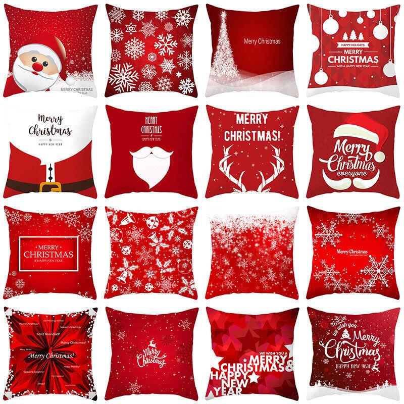 """18x18"""" Christmas Pillow Case Polyester Home Sofa Car Throw C"""