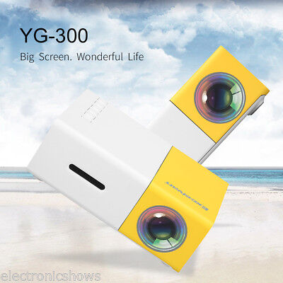 MINI YG300 1080P HD LED Projektor Heimkino Beamer HDMI SD USB VGA for Iphone DE