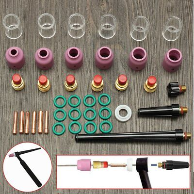 40x Tig Welding Torch Collet Gas Lens Pyrex Glass Cup Kit For Wp-92025 Series