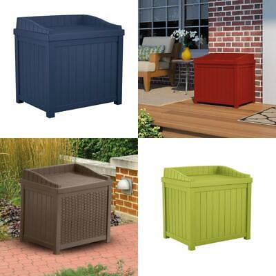 Outdoor Storage Bin Seat Deck Patio Porch Garden Tools Box A