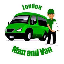 Man and van man with Van house removal service movers furniture delive