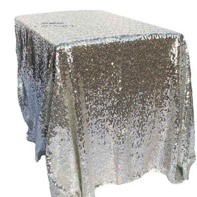 Silver Sequin Tablecloth (40