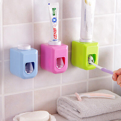 Item Holder - Automatic Toothpaste Dispenser Family Toothbrush Holder Bathroom Household Item