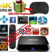 Free TV and Movies HD Android Box m8s tv box