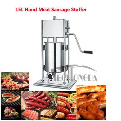 Manual Sausage Stuffer Stainless Steel Vertical Sausage Maker 15l Meat Filler
