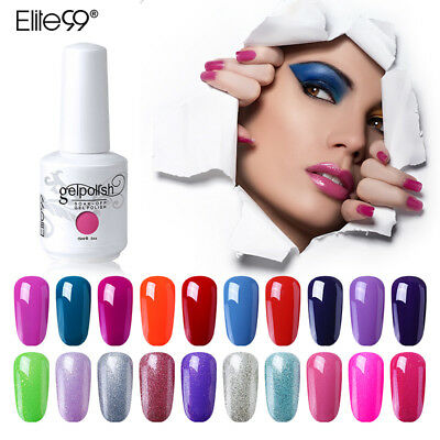 Elite99 15ML Gel Nail Polish Soak Off Color UV LED Varnish Manicure Decor DIY  - Polish Decorations