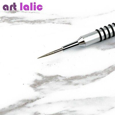 1Pc Acrylic Dye Painting Pen Silver Drawing Flower Brush Manicure Nail Art Tool
