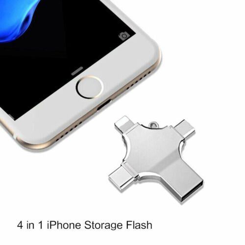 4 in 1 OTG Type-C Pendrive USB Flash Drives Memory Stick For iPhone Android PC