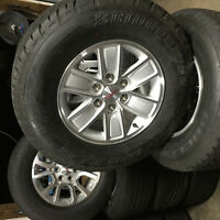 2015 Gmc Sierra Polished Aluminum Wheels/Bridgestone AT