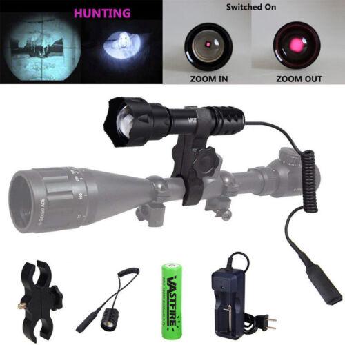 IR 850/&940nm 7W Nachtsicht OSRAM Infrarot LED Zoomable Taschenlampe Jagd Licht