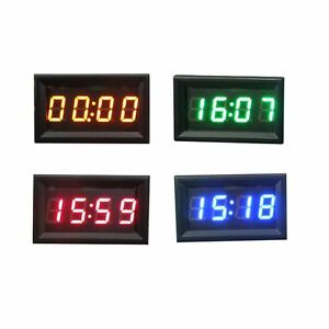 voiture moto accessoire 12v 24v tableau de bord led affichage num rique horloge ebay. Black Bedroom Furniture Sets. Home Design Ideas