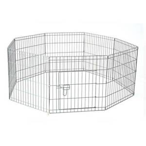 61 x 61 cm 8Panel Pet Playpen Heavy Duty Metal Cage Fence YD008_1