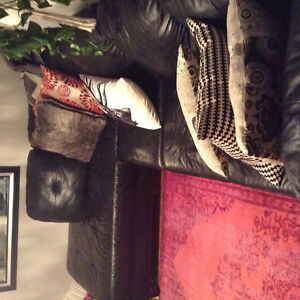 Black Leather Sectional Kitchener / Waterloo Kitchener Area image 4