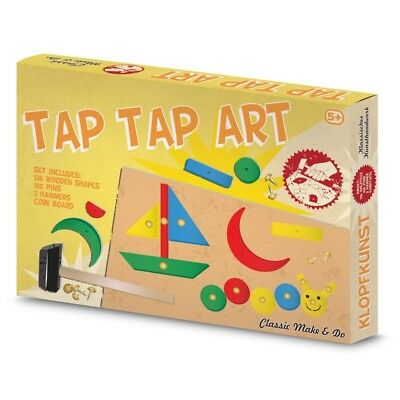 TAP TAP ART - 08405 TRADITONAL CLASSIC WOODEN SHAPES HAMMER CORK BOARD AND PINS