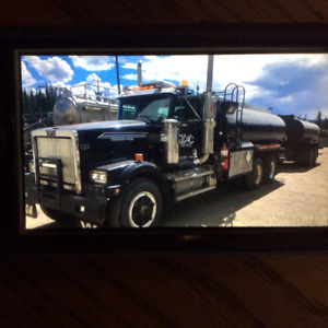 1995 western star tank truck and pup/ reduced $32,500.00