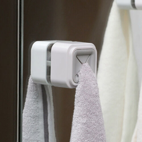 Towel Clip Free Punch Towel Rack Kitchen Supply Rag Plug Plastic Towel Holder OW - $8.89