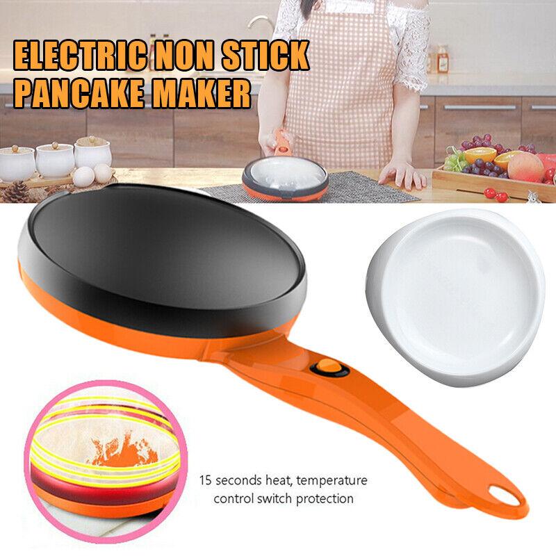 220V Electric Crepe Maker Non Stick Pancake Baking Pan Fryin