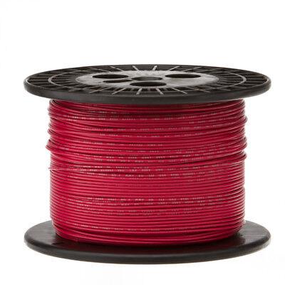 30 Awg Gauge Stranded Hook Up Wire Red 1000 Ft 0.0100 Ptfe 600 Volts