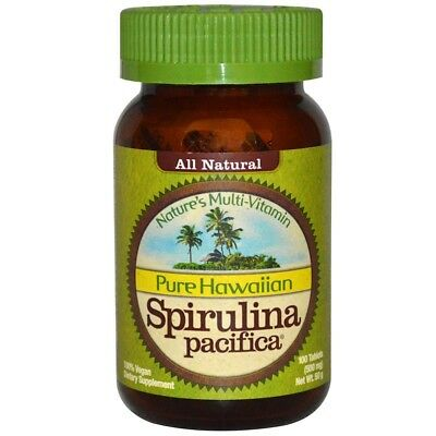 Nutrex Hawaii, Pure Hawaiian Spirulina Pacifica Multi-Vitamin, 500 mg, 100 tabs - Hawaiian 500 Mg 100 Tabs