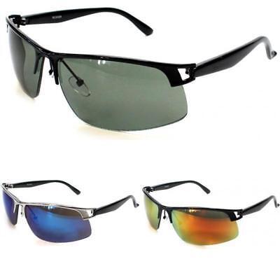 NEU HERREN HALBRAND Designer Metall Retro Sport enganliegende Sonnenbrillen