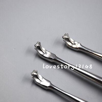 3 Pcs Offset Crown Splitter Remover Elevator Handle Dental Instruments New