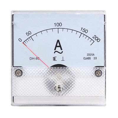 1pc Square Analog Panel Amp Current Meter Ac 0-200a Ammeter Gauge Dh-80 8080