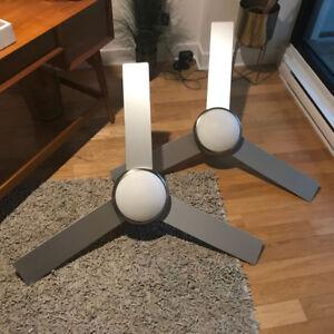 1 Ventilateur de plafond 3 vitesses lumière à gradation