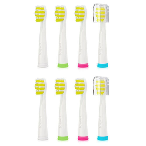 Fairywill Electric Toothbrush Replacement Heads x 8 Firm Bri