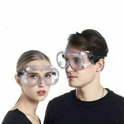 New Hazmat Chemistry Lab Protective Safety Goggles Health With 4 Vented Valve