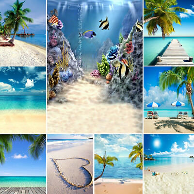 Summer Sea Beach Sky Scene Photography Backdrops Studio Background Prop 10x10FT (Scene Backdrops)
