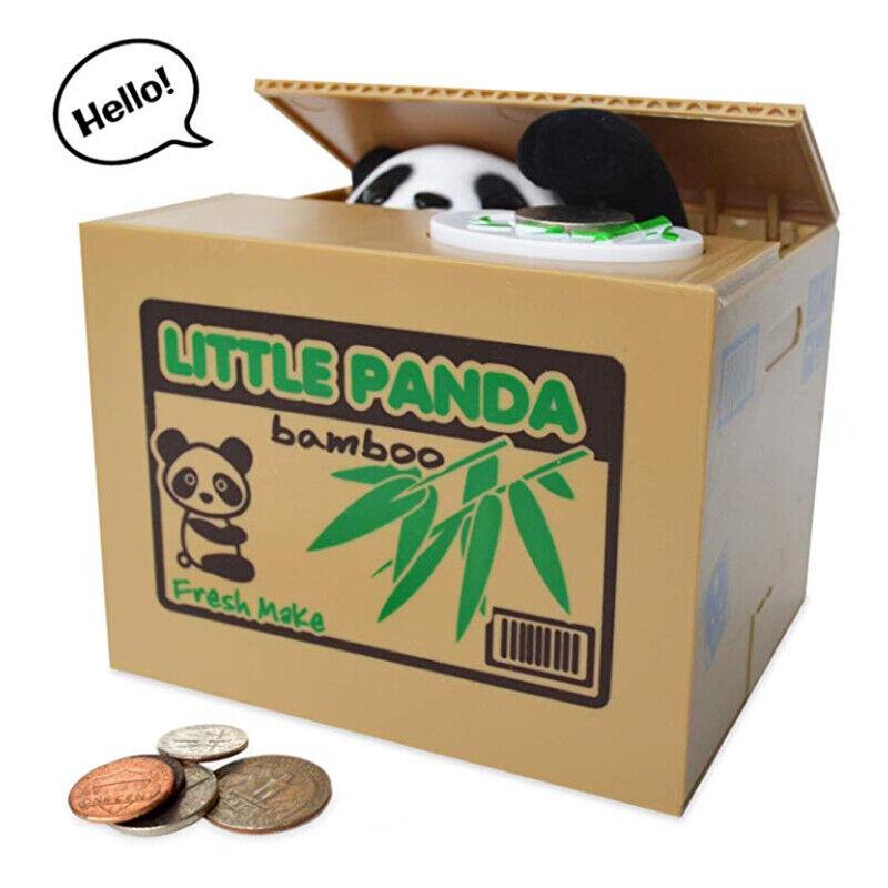 Panda Piggy Bank Money Box Automatic Stealing Coin Saving Money Box with Sound