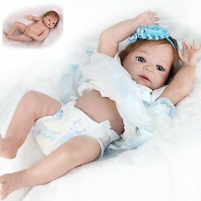Reborn Toddler Dolls 223939 Handmade Lifelike Baby Full Solid Silicone Vinyl Doll