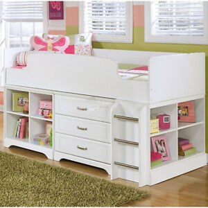 Ashley Furniture now available! Loft Bunk Bed - Great storage solution for your kids bedroom!