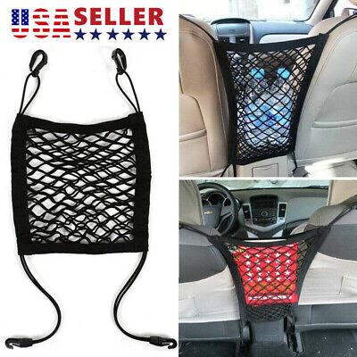 Universal Elastic Mesh Net trunk Bag Car organizer Seat Back Storage Mesh Net US