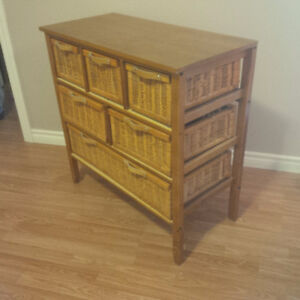Wicker chest of drawers for sale