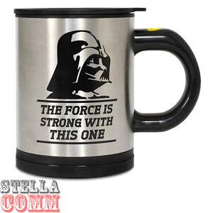 Star Wars Darth Vader Feel The Force Self Stirring Mug Novelty Tea Coffee Cup
