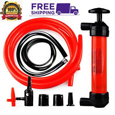 Portable Siphon Hand Pump Transfer Car Manual Gas Oil Liquid Syphon Pump Kit