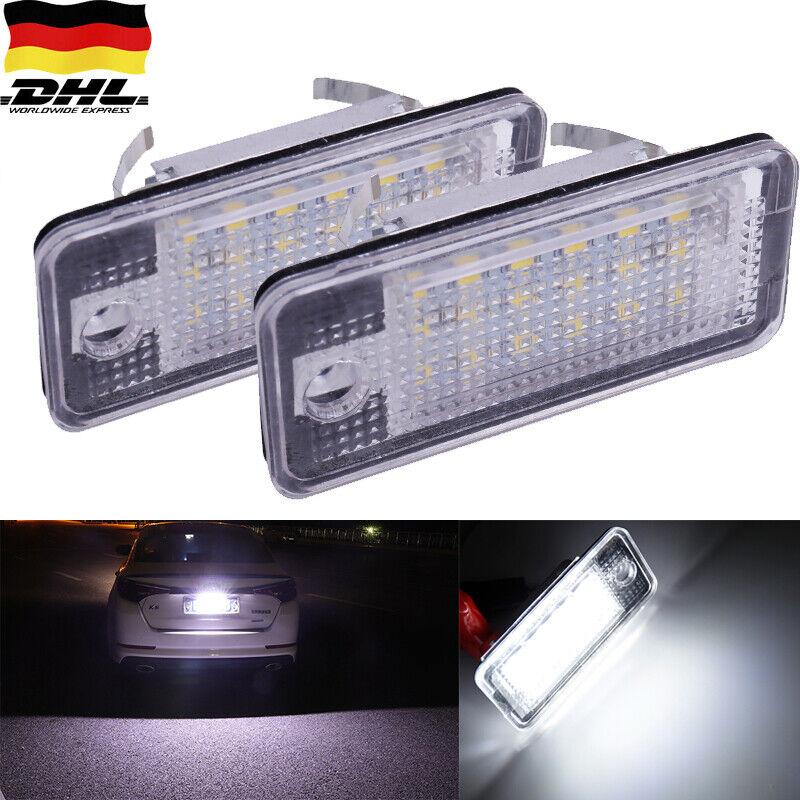 2ER Kennzeichenbeleuchtung LED für Audi A3 8P, A4 B6+B7 A5 Cabrio, A6 4F DE