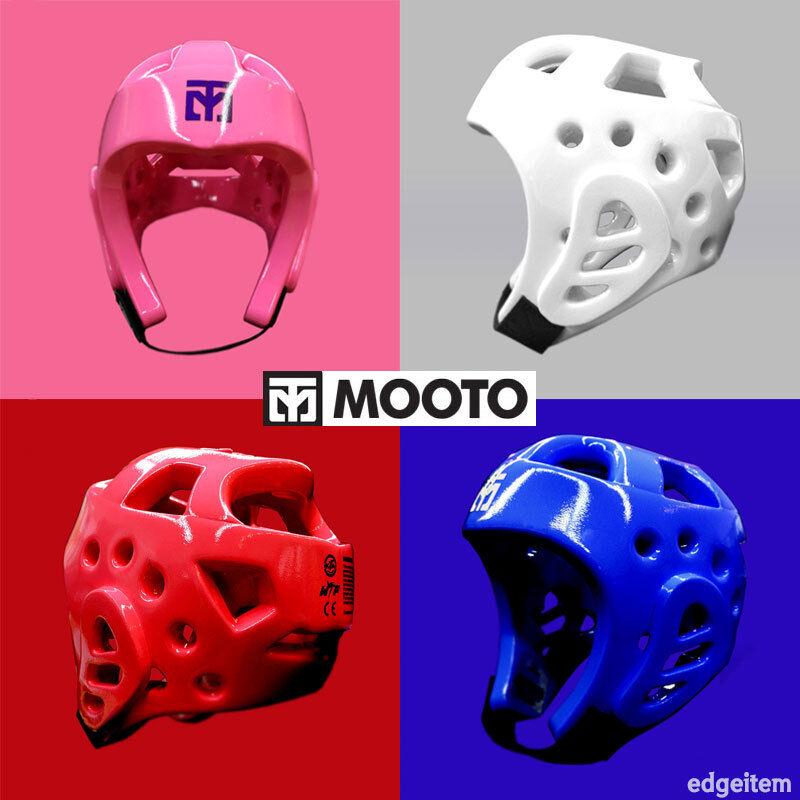 MOOTO NEO Taekwondo Head Gear White / Pink / Red / Blue TKD Guard WTF Protector