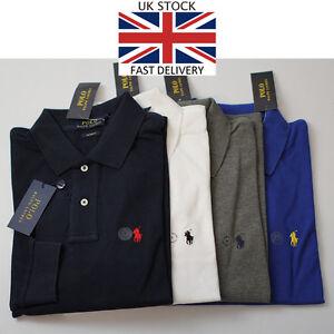 New-Ralph-Lauren-Polo-Slim-Fit-Long-Sleeve-Polo-T-Shirt-Mens-RL-POLO-S-M-L-XL