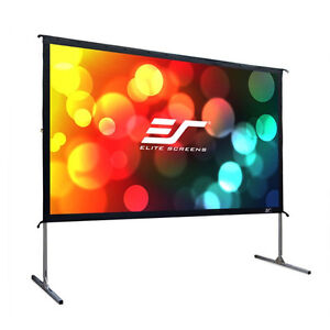 """NEVER USED 110"""" Portable Outdoor/Indoor Rear Projection Screen"""
