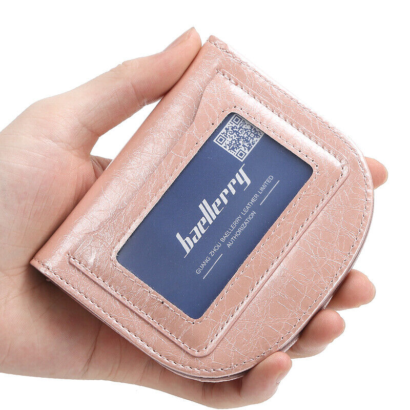 Women Slim Wallet Leather ID Credit Card Holder Coin Pocket Purse With ID Window Clothing, Shoes & Accessories