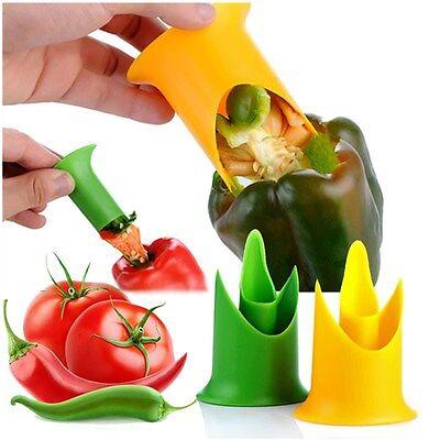 2 in 1 Pepper Corer Remover Vegetable Fruit Deseeder Pratical Home Kitchen Tool