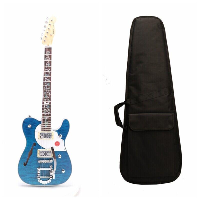 Zuwei Custom Series TL Electric Guitar F Hole Semi Hollow Body Canda Maple