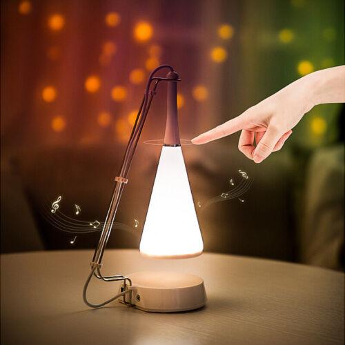 Modern Bluetooth Speaker Table Night USB LED Touch Sensor Mp