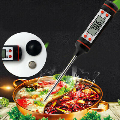 Thermometer Digital Kitchen Craft Stainless Steel Cooking Food Sugar Oil Frying