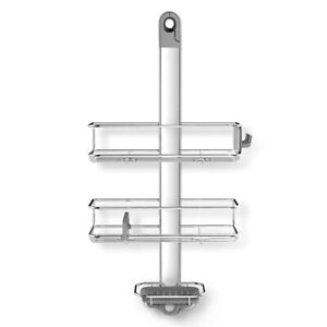 Simplehuman Shower Caddy, Anodized Aluminum, Silver Stainless