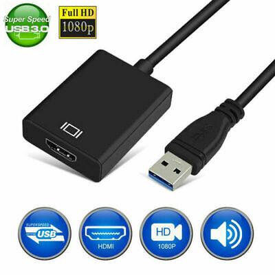 1080P USB 3.0 to HDMI Video Cable Adapter Converter For Windows 7/8/10 HDTV Mac