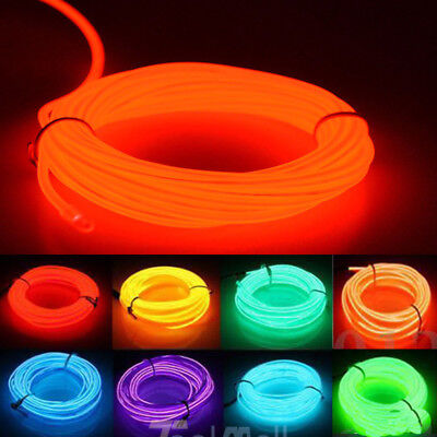 LED EL Wire Neon Glow String Strip Light Rope Controller Car Decor Dance Party  - Neon Dance Decorations